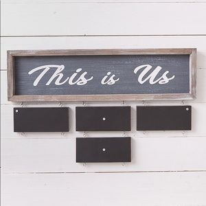 "5 piece ""This is Us"" with 4 Chalkboards"
